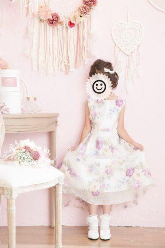 ドレスで記念撮影